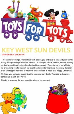 Key West Sun Devils Seeking Donations For Toys For Tots Program